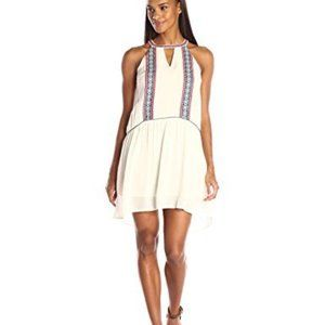 THML Halter Dress with Side Embroidery Panels